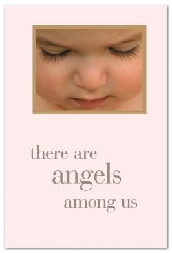 Angel Baby Face Friendship Card Front
