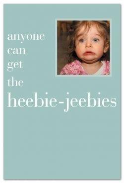 heebie jeebie girl feel better Card front