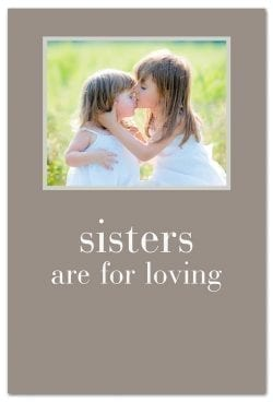 kissing sisters family birthday card front