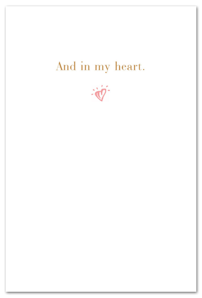 Always on my mind thinking of you card front