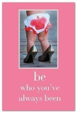 Girl in high heels birthday card front