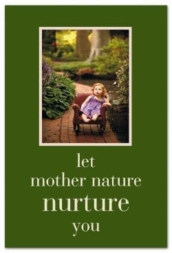 Little girl in the park support encouragement card front