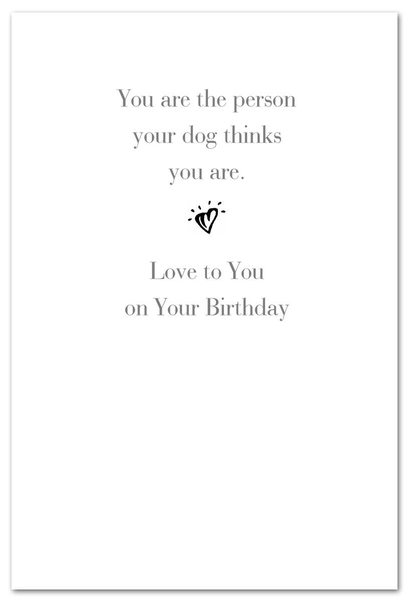 Eyes On Prize Dog Birthday Card Inside Message