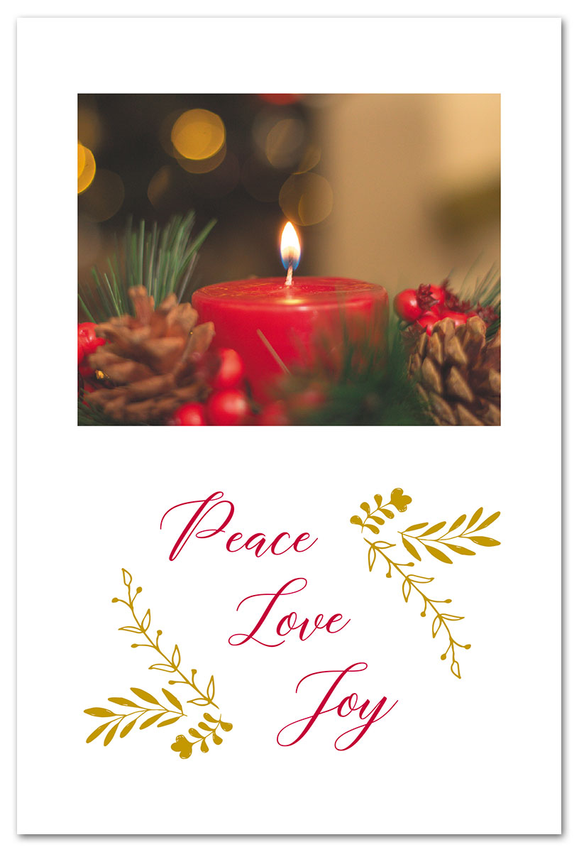 Christmas Card Images.Red Christmas Candle