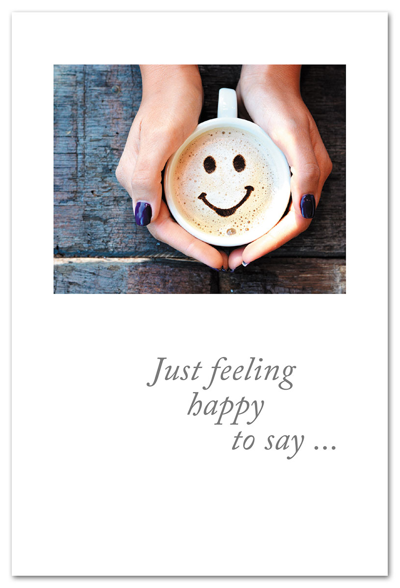 Smiley Face Cappuccino Friendship Card Cardtharticcom